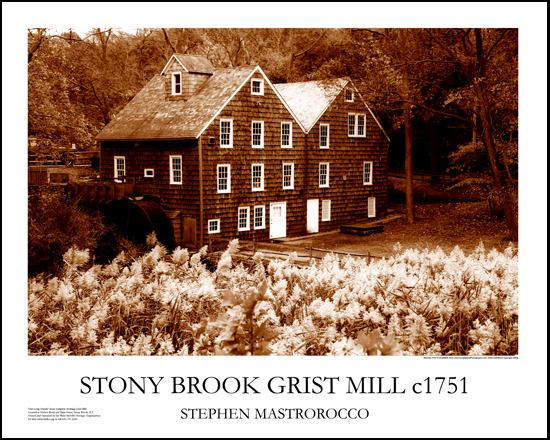 Stony Brook Gristmill 1751 Print# 6506