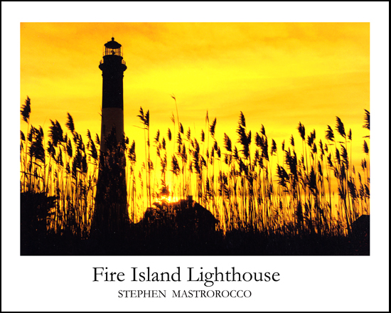 Fire Island Lighthouse At Sunrise Print# 7109