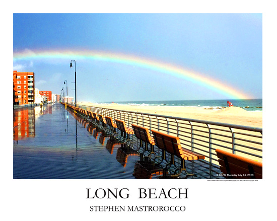 Long Beach Rainbow Print# 7146
