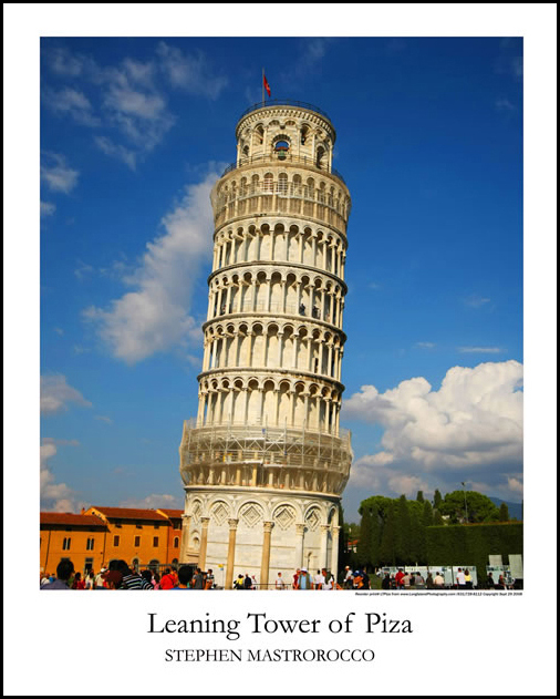 Leaning Tower of Pisa Print# 9204